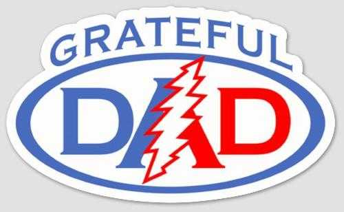 Grateful Dead - Grateful Dad Bumper Sticker