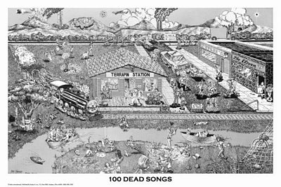 Grateful Dead - 100 Dead Songs Poster