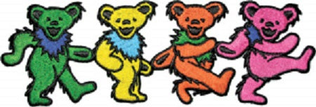 Grateful Dead - 4 Dancing Bears Large Patch