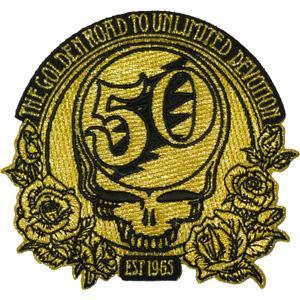 Grateful Dead - 50th Anniversary Gold Embroidered Patch
