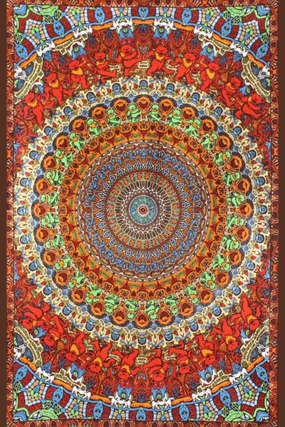 Grateful Dead - Bear Vibrations 3D Tapestry Wall Hanging - Tapestries