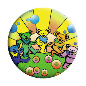 Grateful Dead - Dancing Bears Utopia Button