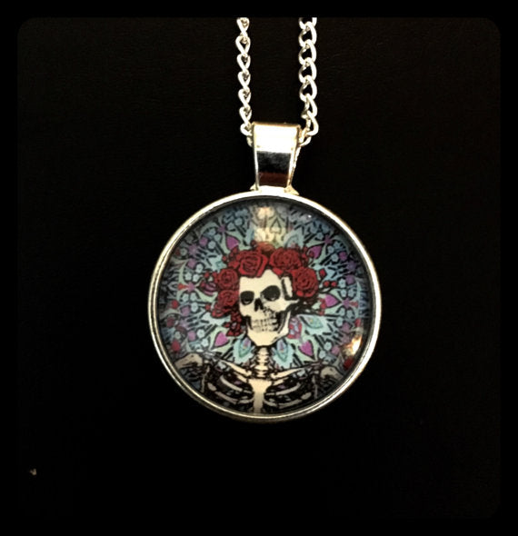 Grateful Dead - Bertha Glass Photo Necklace
