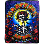 Grateful Dead - Skeleton & Roses Bertha Fleece Blanket