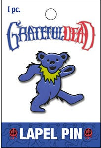 Grateful Dead - Blue Dancing Bear Lapel Hat Pin