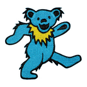 Grateful Dead - Blue Dancing Bear Embroidered Patch