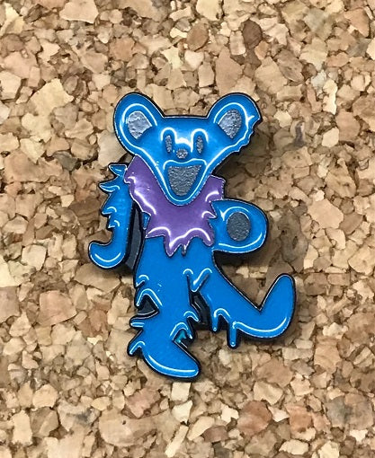 Grateful Dead - Turquoise Blue Dancing Bear Pin