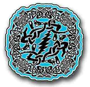 Grateful Dead - Celtic Window Sticker - Sticker