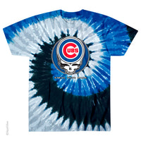Grateful Dead Chicago Cubs Steal Your Face Tie Dye T-Shirt