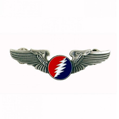 Grateful Dead - Round Bolt Pilot Wings Pin