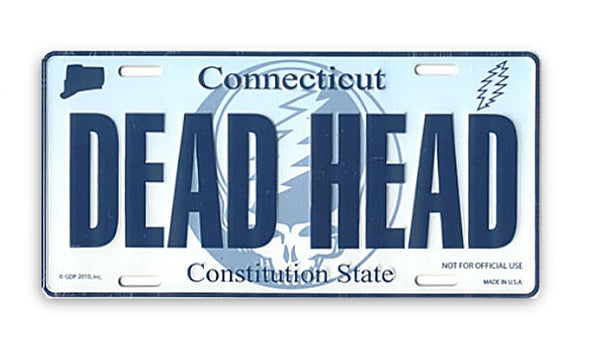 Grateful Dead - Connecticut Deadheads License Plate - Misc.