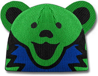Grateful Dead - Dancing Bear Green Knit Beanie Hat - Hats