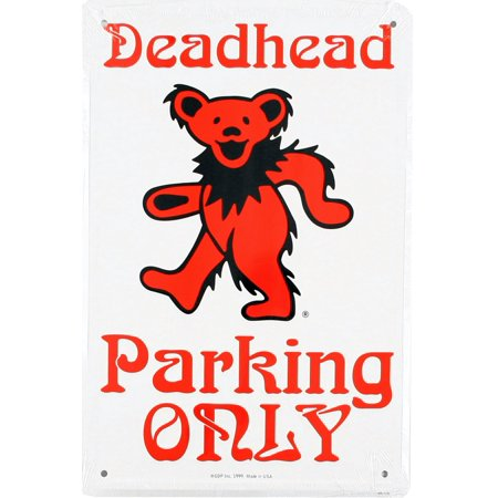 Grateful Dead - Deadhead Bear Metal Parking Sign