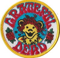 Grateful Dead - Dancing Bear With Roses Embroidered Patch - Patches