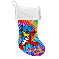 Grateful Dead - Dancing Bears Tie Dye Christmas Stocking
