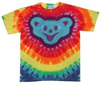 Grateful Dead Dancing Bear Head Tie Dye T-Shirt