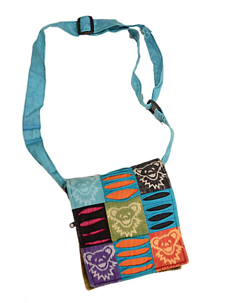 Grateful Dead - Cotton Dancing Bear Block Print Purse