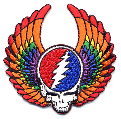 Grateful Dead - Flying Skull Embroidered Patch
