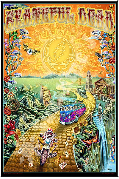 Grateful Dead - Golden Road Art Print Tapestry