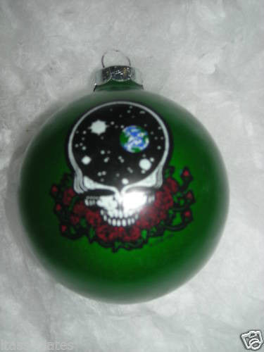 Grateful Dead - Space Your Face Green Christmas Ornament