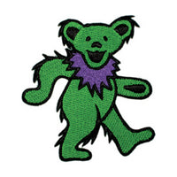 Grateful Dead - Green Dancing Bear Embroidered Patch