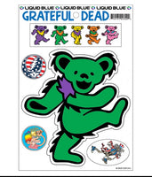 Grateful Dead - Green Dancing Bear Sticker