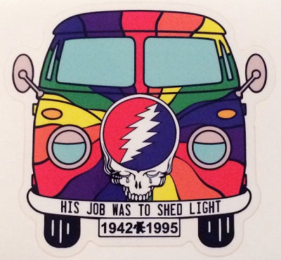 Grateful Dead - Hes Gone Vw Bus Sticker - Sticker