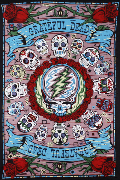 Grateful Dead - Mexicali Skulls Tapestry Wall Hanging - Tapestries