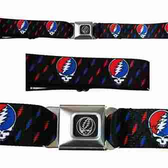 Grateful Dead - SYF Mini Lightning Bolts Seatbelt Belt
