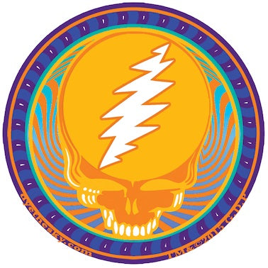 Grateful Dead - Mini Orange Sunshine Decal Sticker