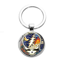 Grateful Dead - Night/Day Steal Your Face Key Ring