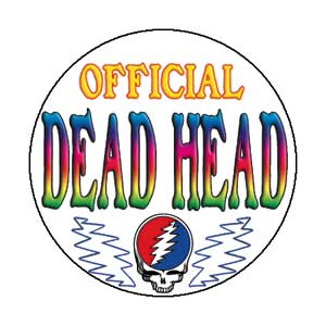 Grateful Dead - Official Deadhead Button