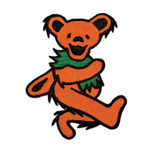 Grateful Dead - Orange Dancing Bear Embroidered Patch