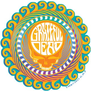 Grateful Dead - Orange Sunshine Steal Your Face Decal Sticker