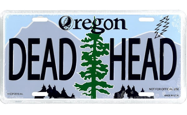 Grateful Dead - Oregon Deadhead License Plate - Misc.