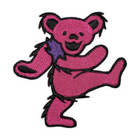 Grateful Dead - Pink Dancing Bear Embroidered Patch