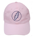Grateful Dead - Lightning Bolt Pink Hat - Hats