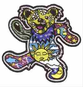 Grateful Dead - Dan Morris Dancing Bear Embroidered Patch