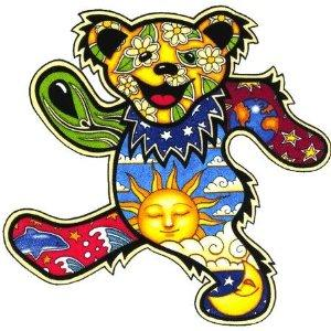 Grateful Dead - Dan Morris Dancing Bear Sticker - Stickers