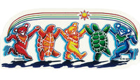 Grateful Dead - Rainbow Critters Batik Style Decal Sticker