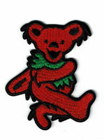 Grateful Dead - Red Dancing Bear Embroidered Patch