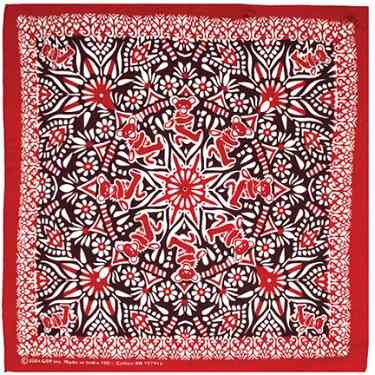 Grateful Dead - Mandala Bandana - Red - Misc.