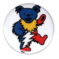 Grateful Dead - Red, White & Blue Bear Button