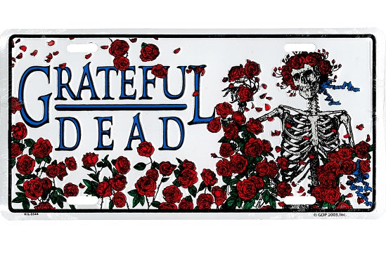 Grateful Dead - Skeleton & Roses License Plate - Misc.