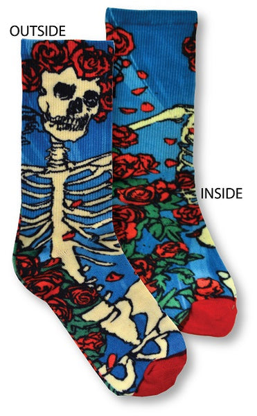 Grateful Dead - Skeleton and Roses Socks