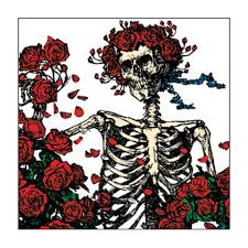 Grateful Dead - Skeleton and Roses Square Button
