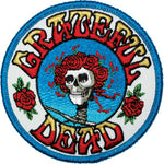 Grateful Dead - Skeleton & Roses Bertha Iron On Patch - Patches