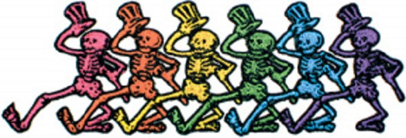 Grateful Dead - Dancing Skeletons Embroidered Patch