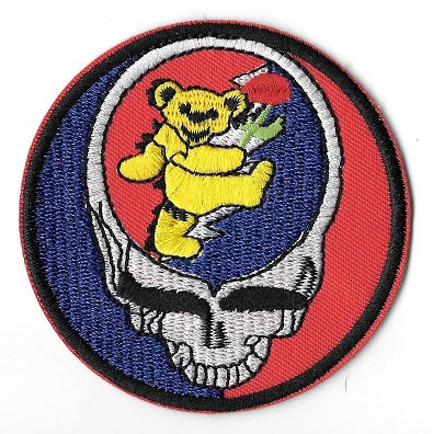 Grateful Dead - Steal Your Bear Embroidered Patch - Patches
