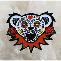 Grateful Dead - Sugar Skull Dancing Bear Hat Pin